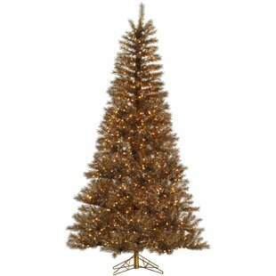 metal mix tinsel 75 brown artificial christmas tree with 700 led clearwhite lights