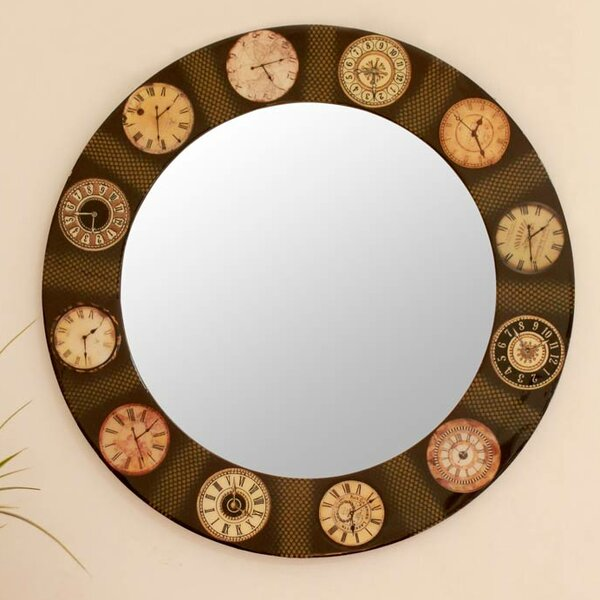 The Faces of Time Accent Mirror by Novica