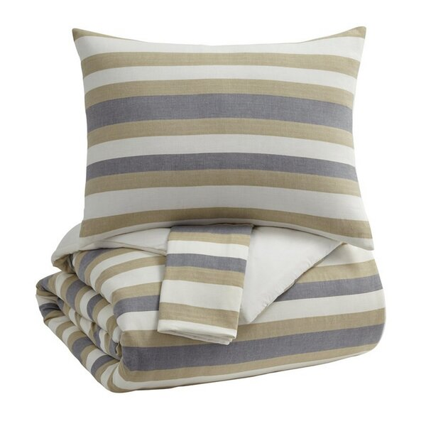 Malad Striped Print Comforter Set