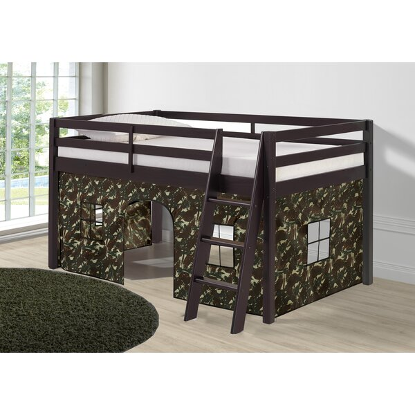 Gladwin Bottom Tent Twin Low Loft Bed by Zoomie Kids