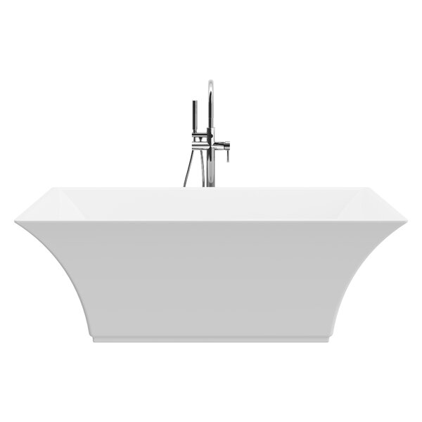Abzu 67 x 23 Freestanding Soaking Bathtub Kit by A&E Bath and Shower