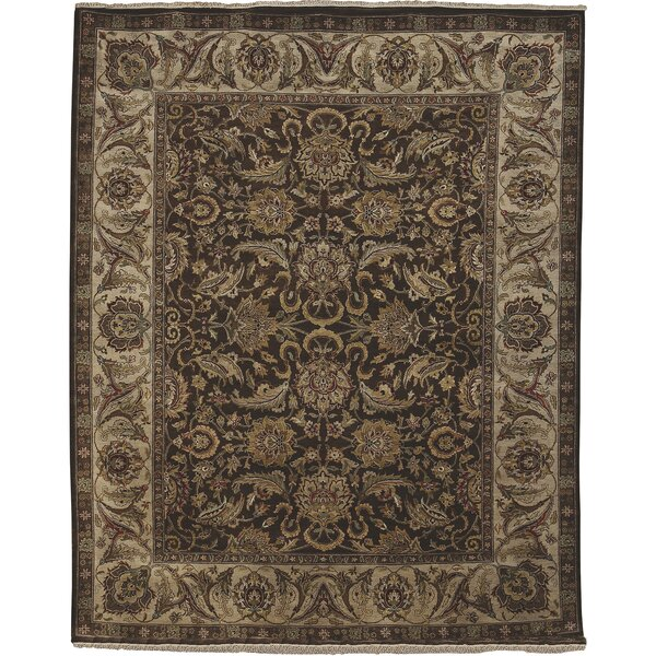 Isidore Chocolate/Ivory Area Rug by Fleur De Lis Living