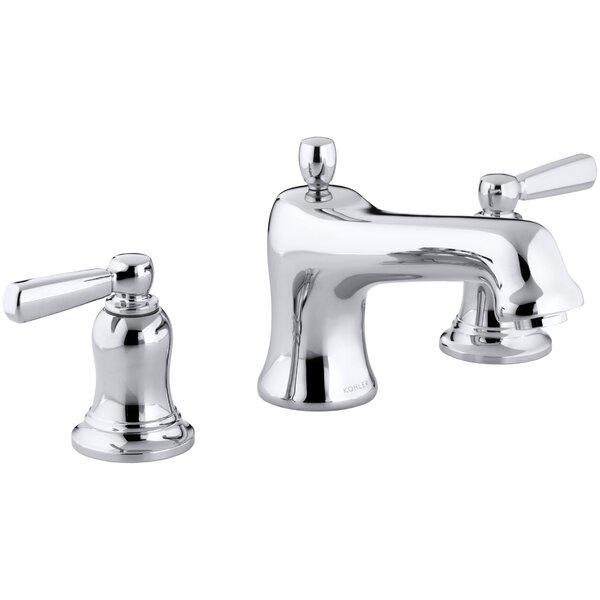 Bancroft Bath Faucet Trim for Deck-Mount High-Flow Valve with Non-Diverter Spout and Metal Lever Handles, Valve Not Included by Kohler