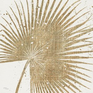 Gold Leaves II Graphic Art on Wrapped Canvas by Mercury Row