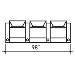 Signature Series St. Tropez Home Theater Row Seating (Row Of 3) By Bass