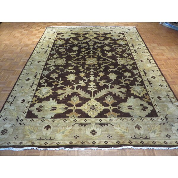 One-of-a-Kind Josephson Oushak Hand-Knotted Brown Area Rug by Canora Grey