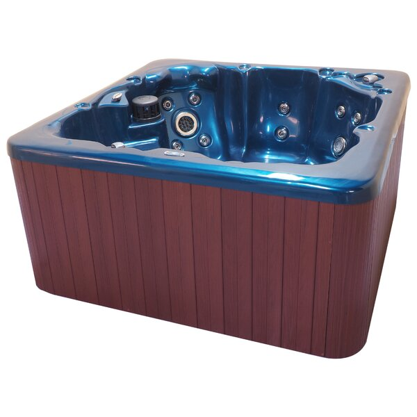 Tahoe 6-Person 65-Jet Spa with Waterfall and LED Light by QCA Spas