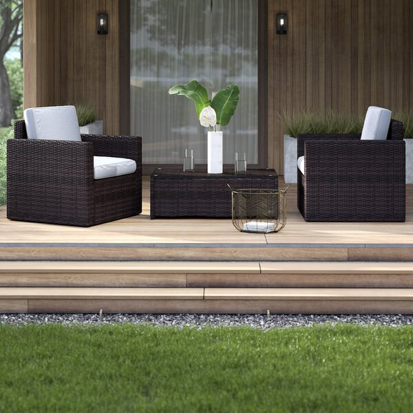 Belton 3 Piece Seating Group with Cushions Mercury Row MCRW4615