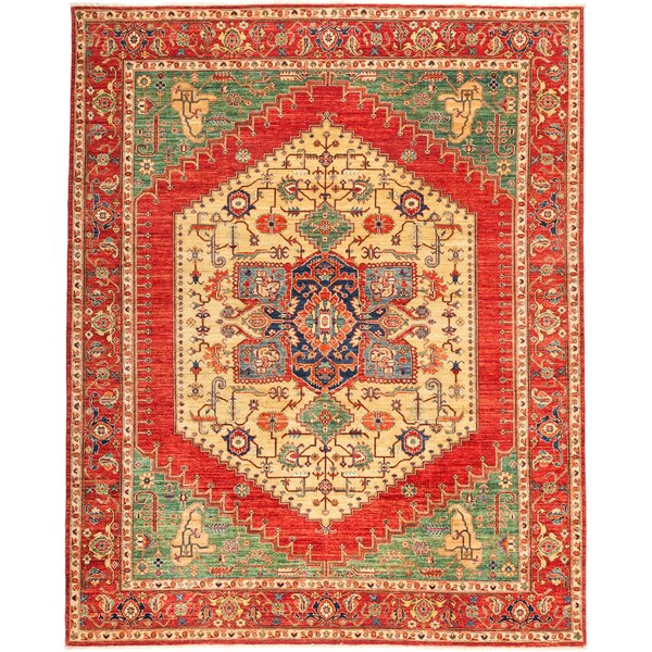 One-of-a-Kind Diam Hand Knotted Wool Green Area Rug by Isabelline