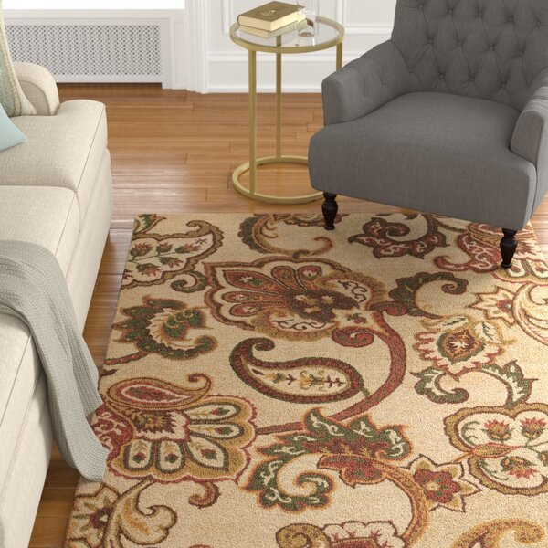 Hyder Hand-Tufted Cream Area Rug by Darby Home Co