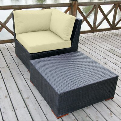 Scholtz 2 Piece Deep Seating Group with cushion Fabric Color: Ivory