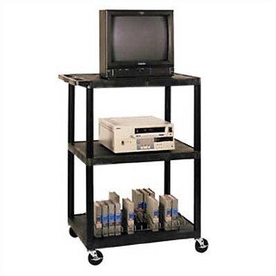 High Open Shelf Endura Video Table AV Cart by Luxor