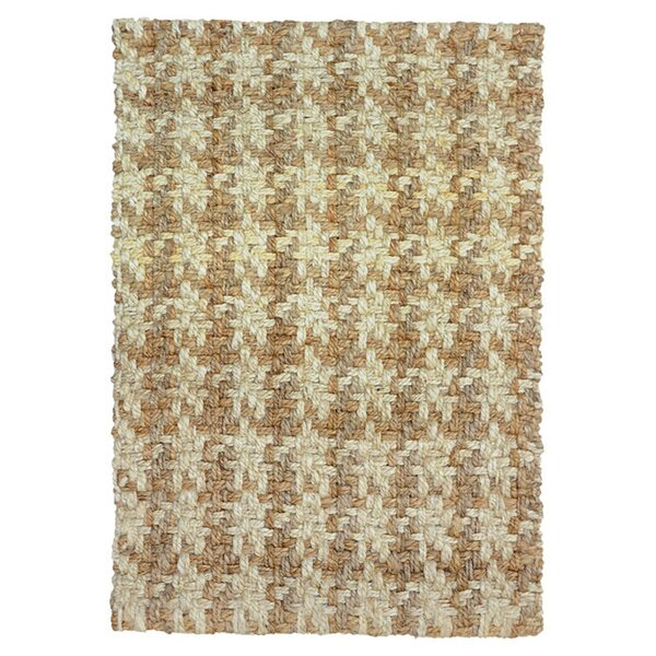 Dogtooth Handspun Jute Bleach/Natural Area Rug by Kosas Home