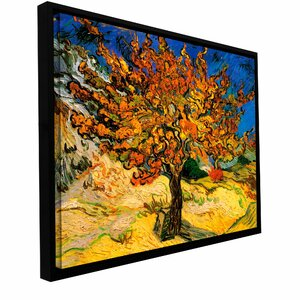 Mulberry Tree' by Vincent Van Gogh Framed Painting Print on Wrapped Canvas by Andover Mills