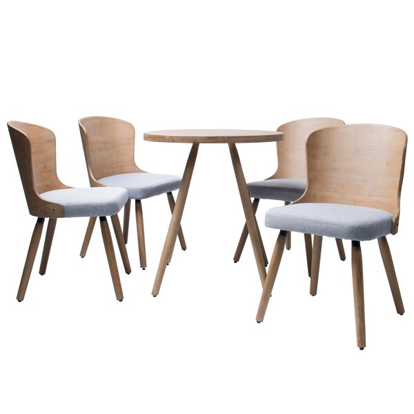 Linde 5 Piece Dining Set by Union Rustic