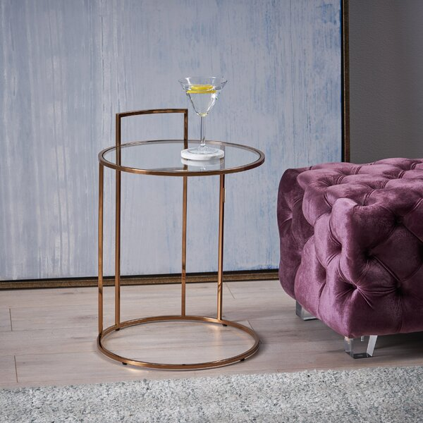 Stenya Glam End Table by Wrought Studio