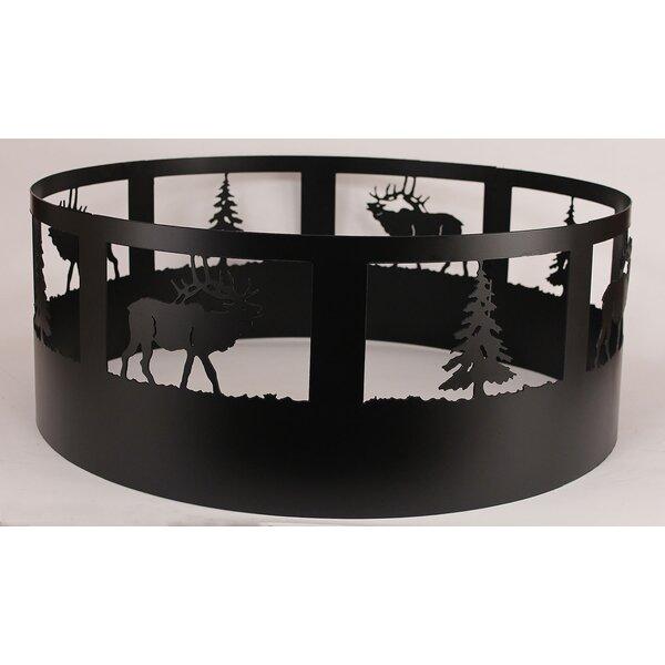 Glenlee Elk Steel Charcoal Fire Ring by Loon Peak