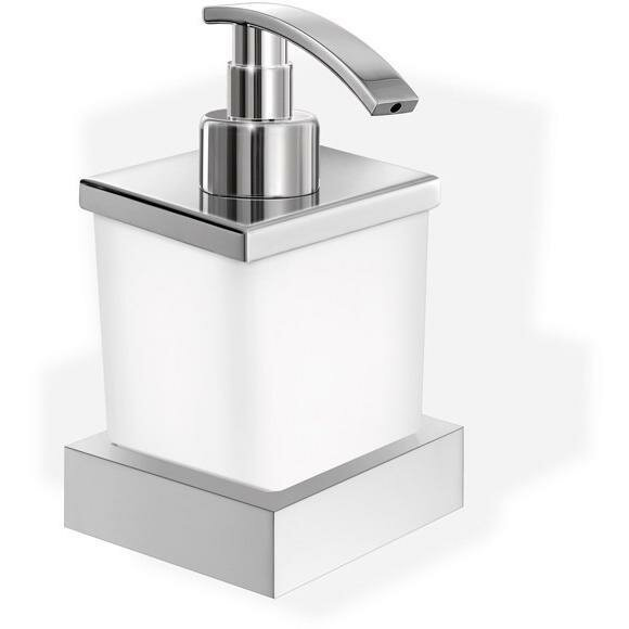 Solem Frosted Glass Soap & Lotion Dispenser by Orren Ellis
