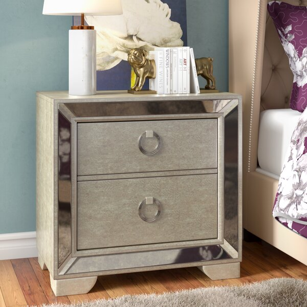 Halstead 2 Drawer Nightstand by House of Hampton