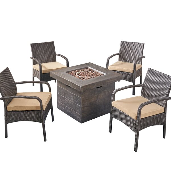 Centerville 5 Piece Rattan Sofa Seating Group With Cushions By Alcott Hill