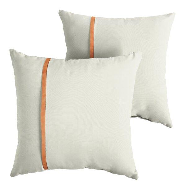 Fondren  Indoor/Outdoor Sunbrella Throw Pillow (Set of 2) by Charlton Home