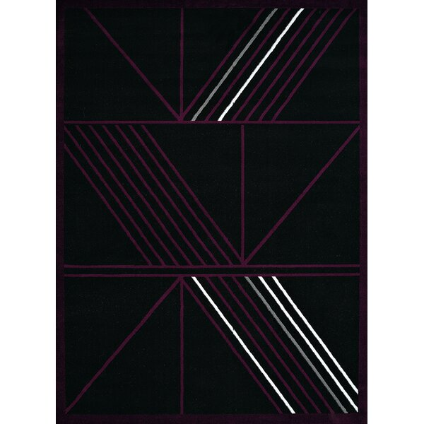 Eloise Black Area Rug by Ebern Designs