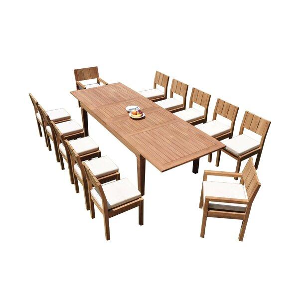 Mclaren 13 Piece Teak Dining Set by Rosecliff Heights
