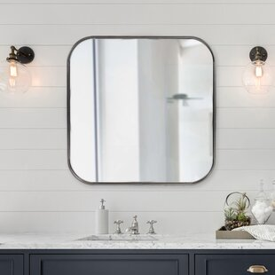 Modern Contemporary Brushed Nickel Bathroom Mirror Allmodern