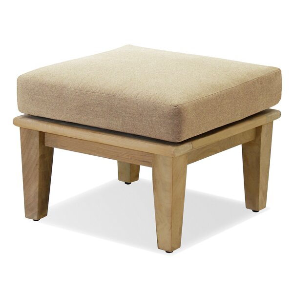Miramar Outdoor Teak Ottoman with Sunbrella Cushion by Forever Patio