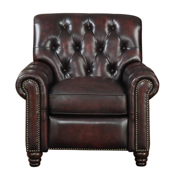 Leather Manual Recliner by At Home Designs