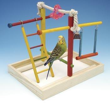 Medium Wooden Playground Bird Activity Center by Penn Plax