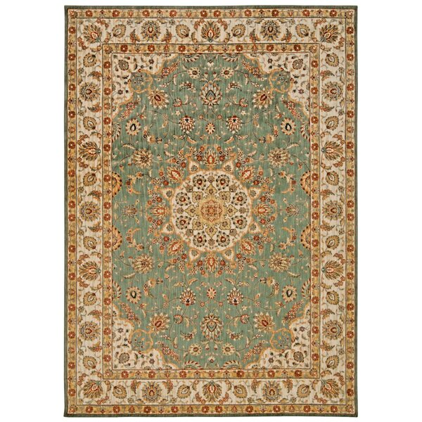 Babylon Ancient Times Palace Teal Area Rug by Kathy Ireland Home