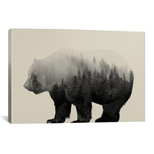 'Bear in the Mist' by Andreas Lie Graphic Art Print by East Urban Home