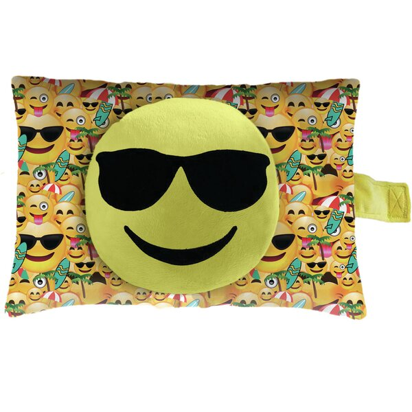 Sunglasses Face Plush Chenille Throw Pillow by Pillow Pets