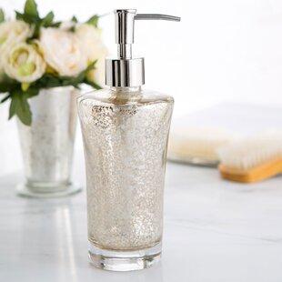 Mercury Glass Bathroom Accessories. Mercury Glass Vanity Lotion Dispenser