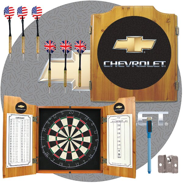 Chevrolet Dart Cabinet in Medium Wood by Trademark Global