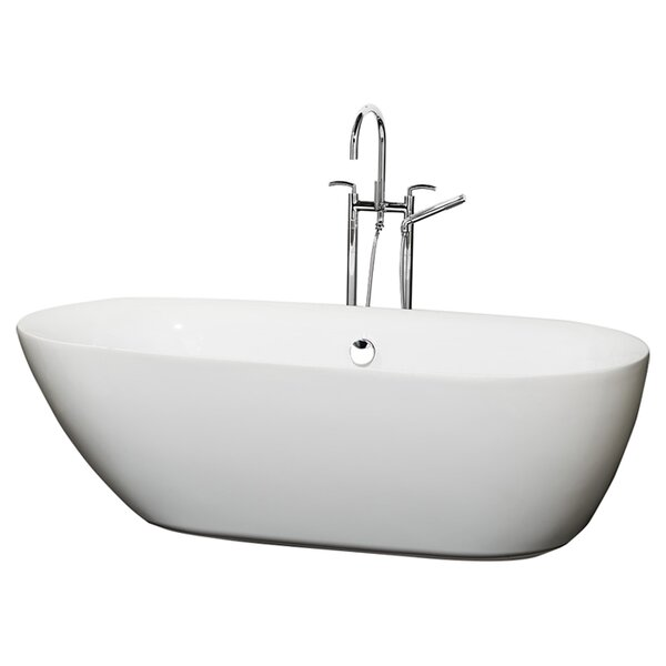 Melissa 71 x 33 Soaking Bathtub by Wyndham Collection
