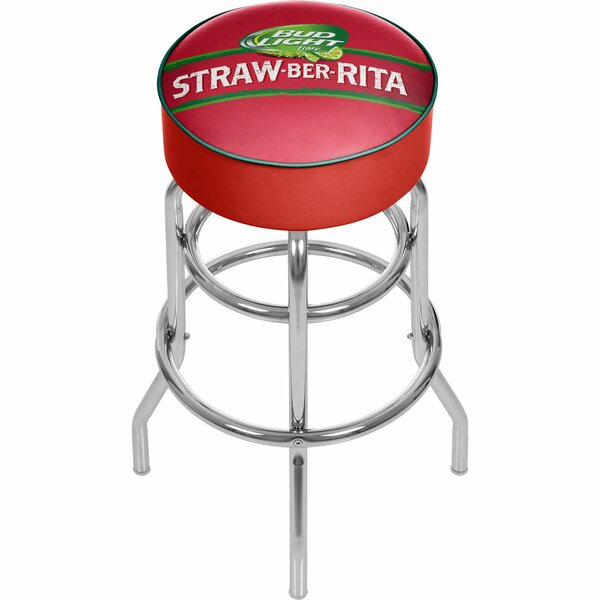 Bud Light Straw-Ber-Rita Swivel Bar Stool by Trademark Global