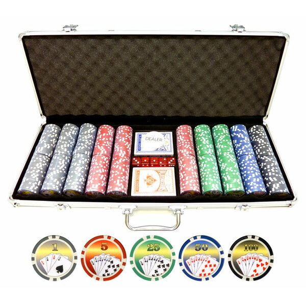 500 Piece Royal Flush Poker Chip by JP Commerce
