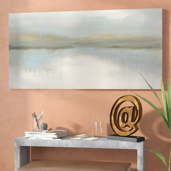 Abstract Painting on Canvas in Gray by Trent Austin Design