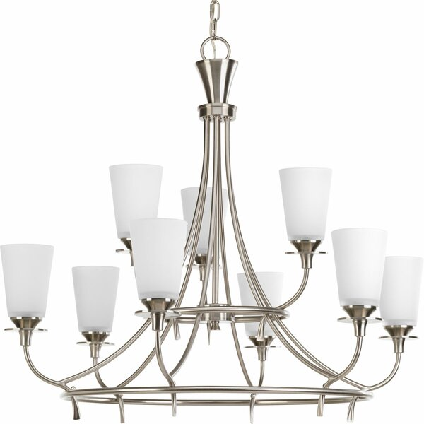 Risha 9-Light Shaded Tiered Chandelier By Red Barrel Studio