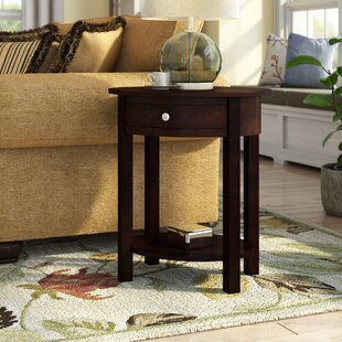 Moravian Classic Accents End Table with Storage Alcott Hill