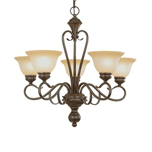 Birchview 5-Light Semi Flush Mount