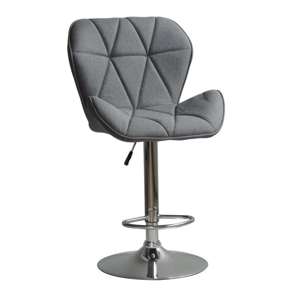 Garett Adjustable Height Swivel Bar Stool by Brayden Studio