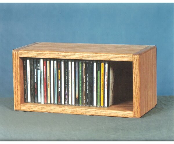 100 Series 32 CD Multimedia Tabletop Storage Rack by Wood Shed