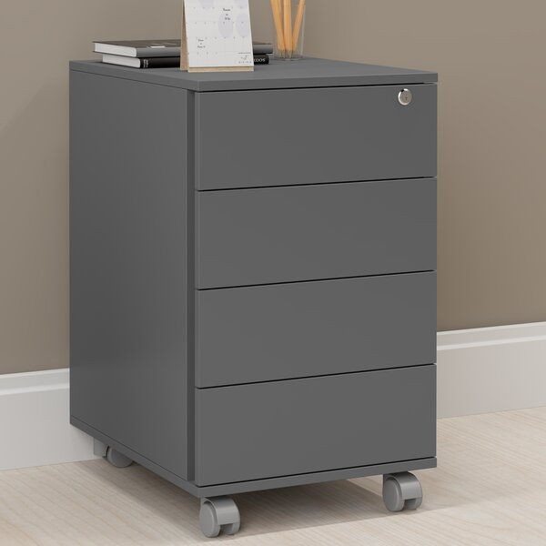 Branchburg 4 Drawer Vertical Filing Cabinet by Lat