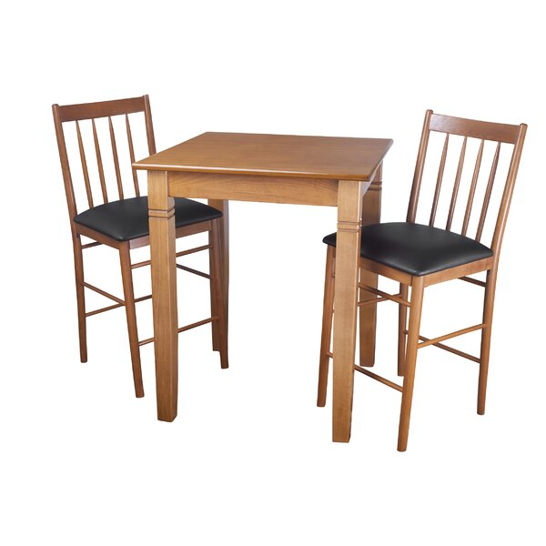East Broadway 3 Piece Pub Table Set by Darby Home Co Darby Home Co