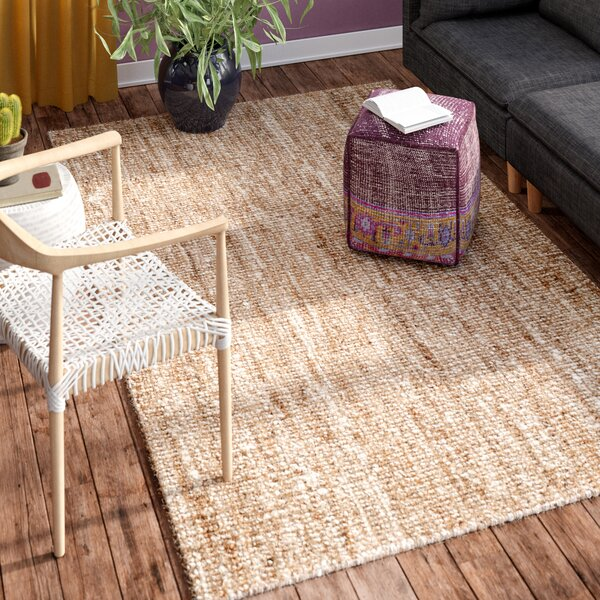 Mandu Hand-Woven Natural/Ivory Area Rug by Mistana