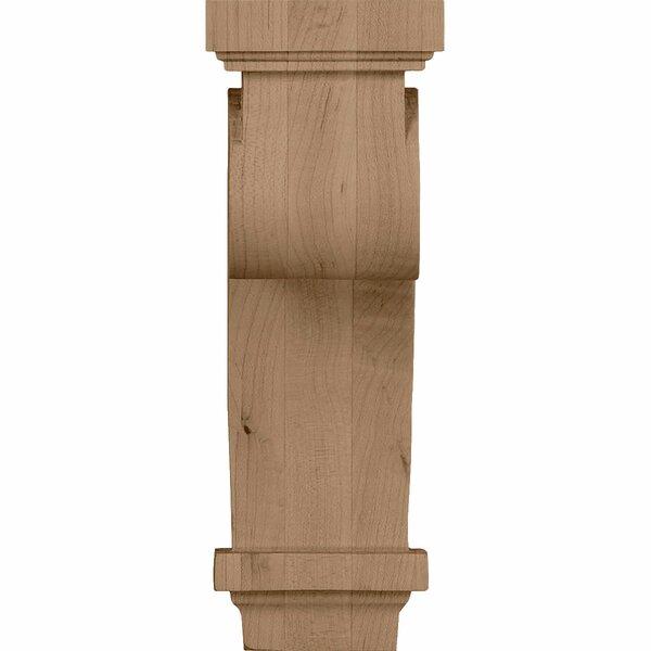 Scroll 9H x 3 1/4W x 5D Corbel in Alder by Ekena Millwork