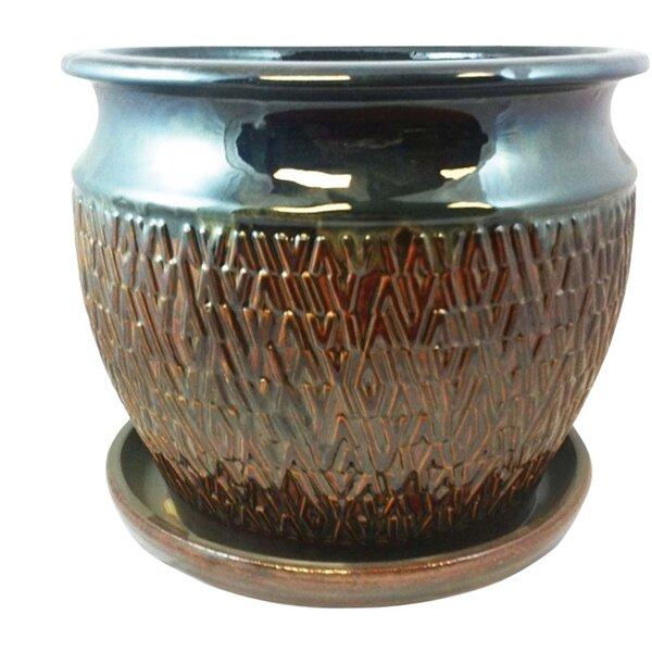 Newby Textured Studio Glazed Ceramic Pot Planter by World Menagerie
